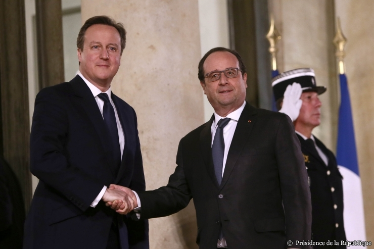 Le pr sident fran ois hollande re oit david cameron for Chambre de commerce francaise en grande bretagne