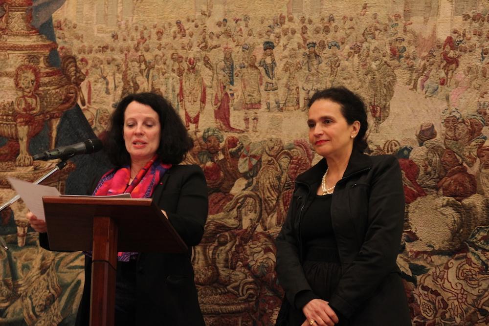 Catherine jentile d cor e de la l gion d honneur par l for Chambre de commerce franco britanique